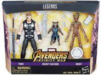 Marvel Legends Infinity War 3 Pack Thor Groot & Rocket NEW
