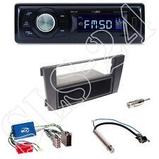 Caliber RMD021 USB-Radio + Audi A6 2-DIN Blende mit Fach + Aktivsystemadapter