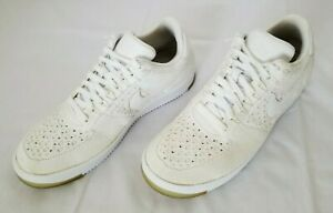 Mens Sz 12 Tan White Nike Air Force 1 Ultra Flyknit Sneakers 817419-100 preowned