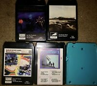 LOT OF 5 THE MOODY BLUES 8-TRACK TAPES On The Threshold Of A Dream (2) Go Now #1