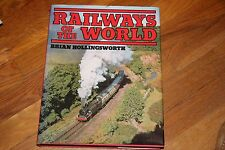 BOOK   RAILWAYS OF THE WORLD,   HARD COVER,   GD/CD