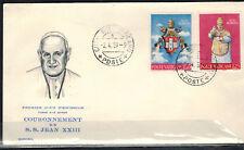 1959-FDC ENVELOPPE 1°JOUR-VATICAN-COURONNEMENT PAPE JEAN XXIII-Yv.268/96-RéF.C69