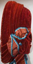 ANTIQUE WOMEN'S BONNET 1860's WOVEN STRAW COVERED VELVET MOIRE VELVET RIBBON