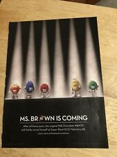 M&Ms - 2012 Magazine Print Ad - Ms. Brown is Coming