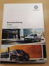 VW CADDY Bedienungsanleitung Betriebsanleitung (Ausgabe 07.2019) **NEU**