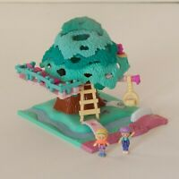 Polly Pocket Bluebird Vintage Pollyville Tree House - COMPLETE with figures