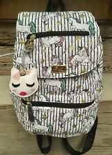 LUV BETSEY JOHNSON School QUILTED Backpack UNICORN  New!