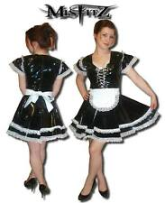Misfitz black pvc  glamour corset maids dress sizes 8-32 or made to measure