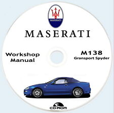 Workshop Manual,Maserati Spyder 4200 M138.Manuale Officina,Parti Ricambio.