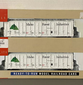 Walthers HO Thrall Door Box Car Idaho Forest Industries HTCX LOT x2 932-27005