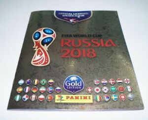"Album Panini Russia 2018 Gold ""Swiss"" + 682 complete set loose + 12 coca-cola"