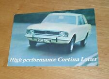 Lotus Cortina Mk2 Brochure 1967-1968 - Dealer Stamped
