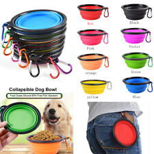 1Pcs Silicone Foldable Bowl Collapsible Pet Bowl Portable Dogs Cats Food Water