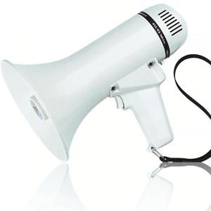 Eagle 10w Loud Pistol Grip Megaphone with Volume Control 600m Range Projection