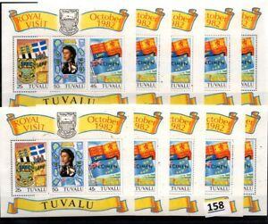 /// 10X TUVALU 1982 - MNH - SPECIMEN - QUEEN - ROYAL VISIT - FLAGS