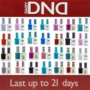 DND 400 - 640Daisy Soak Off Gel Polish Pick Your Color .5oz LED/UV