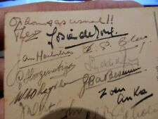 1950s lager drinkers  Pub in The Hague  HEINEKEN   signed card to missing chum a