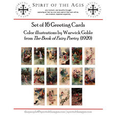 "Warwick Goble - The Book of Fairy Poetry: 16 Deluxe ""hand-tipped"" Greeting Cards"