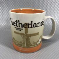 Starbucks City Mug Cup Global Icon Series Netherlands Coffee Mug16 oz. WindMill