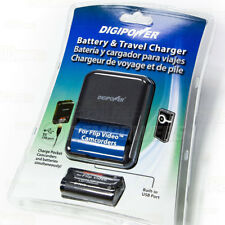 Digipower Replacement NiMH Battery & Charger Kit Flip Video Ultra HD Camcorders