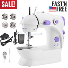Portable Electric Sewing Machine Desktop Household Tailor 2 Speed Foot Pedal USA