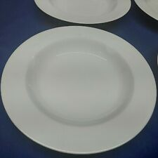 "Vintage Mikasa Fine China ""CLASSIC FLAIR WHITE""Set/3 Rimmed Soup/Salad Bowls EUC"