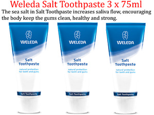 3 x 75ml WELEDA Salt Toothpaste * Keep gums clean, healthy and strong.