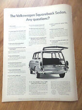 1966 VW Volkswagen Ad Squareback Sedan  Any Questions?