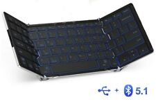 iclever Bluetooth Keyboard ic-BK05 Folding Wireless With 3 color Backlit.