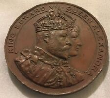 1907 King Edward VII & Queen Alexandra Visit to Cardiff Medal by Spiridion