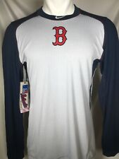 Nike Boston Red Sox Dri-Fit Grey Long Sleeve Training Shirt Men's LARGE NWT