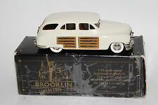 Brooklin Models 1948 Packard Woody Station Wagon, Ivory,  1/43 scale with Box