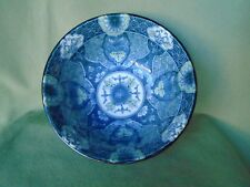 "Asian Chinese Blue White Green Footed Floral Pattern Porcelain Bowl Dish 6"" x 3"""