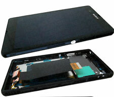Sony Xperia Z Display With Touch Screen Digitizer Assembly With Frame - Black