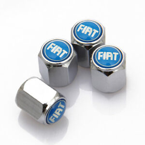 Universal Car Tire Valve Dust Stems Air Caps Covers Accessories Logo For Fiat