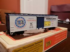 HO SCALE TRAIN MINIATURES #2019 PENNSYLVANIA COMMEMORATIVE CAR. NEW OLD STOCK.