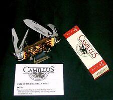 Camillus 97 Sword Brand Knife Camper's Elite Indian Stag Set W/Packaging,Papers