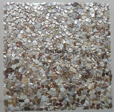 11PCS Irregular Colorful Shell Mosaic Mother of Pearl Kitchen Bathroom Wall Tile