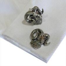 Cufflinks Handmade in England Ram Silver Pewter Rams Head High Quality