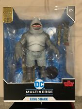 McFarlane DC Multiverse King Shark Gold Label Suicide Squad RARE Bloody Variant