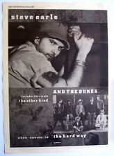 Steve Earle And The Dukes 1990 Poster Ad The Hard Way the other kind