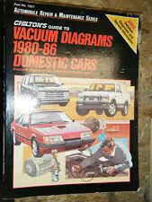 1980-1986 CHILTON'S VACUUM DIAGRAMS DOMESTIC CARS MANUAL