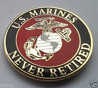 *** US MARINES NEVER RETIRED *** Military Veteran Hat Pin P62252 EE