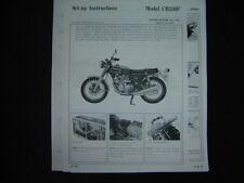1972 1973 Honda CB350F Set up Instructions LOOK CB350 F