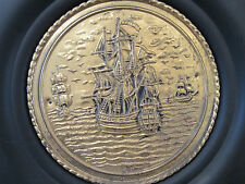 NAUTICAL GALLEON SHIP METAL WALL HANGER PLATE