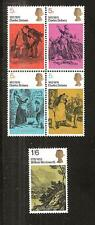 Great Britain # 617-621 Mnh Charles Dickens, Novelist, William Wordsworth, Poet