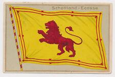 Schottland  Flagge Ansichtskarte  AK Prägedruck Lithokarte 1913 Lithografie (482