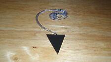 Retro Long Triangle Pendant Chain Necklace