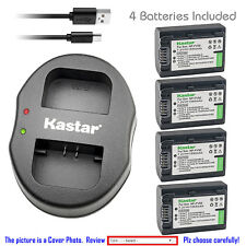 Kastar Battery Dual Charger for Sony NP-FV50 & Sony DCR-SX15 DCR-SX20 DCR-SX21