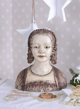 Deckeldose Frauenkopf Frauenbüste Antik Schmuckschatulle Shabby Büste